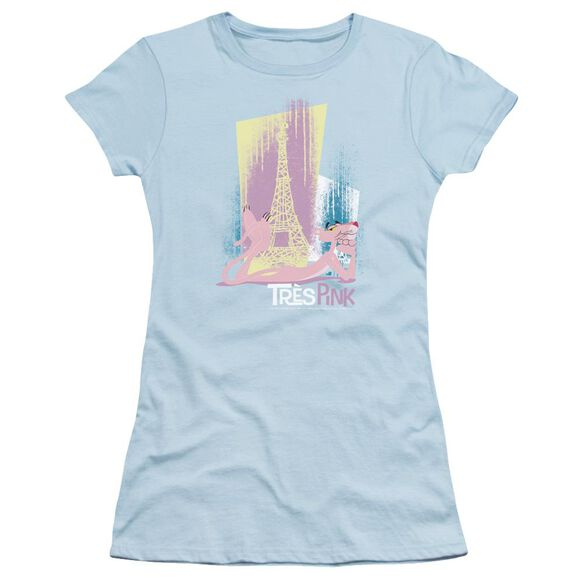 Pink Panther Tres Pink Short Sleeve Junior Sheer Light T-Shirt