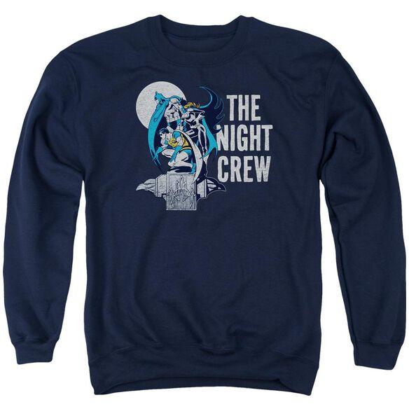 Dc Night Crew Adult Crewneck Sweatshirt