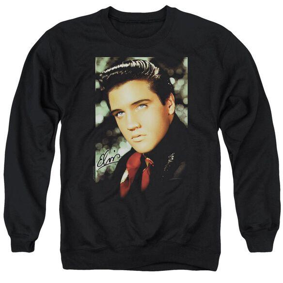 Elvis Red Scarf Adult Crewneck Sweatshirt