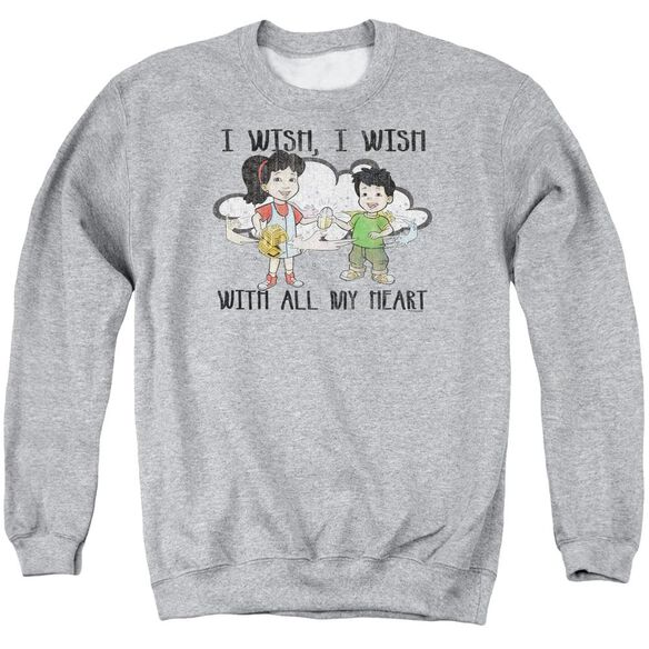 Dragon Tales I Wish With All My Heart Adult Crewneck Sweatshirt Athletic