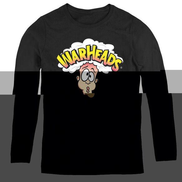 Warheads Logo - Womens Long Sleeve Tee - Black