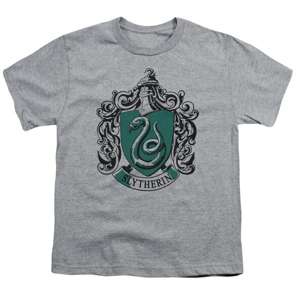Harry Potter Slytherin Crest Short Sleeve Youth Athletic T-Shirt