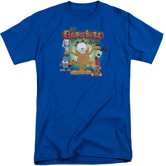 Garfield The Garfield Show Short Sleeve Adult Tall Royal T-Shirt