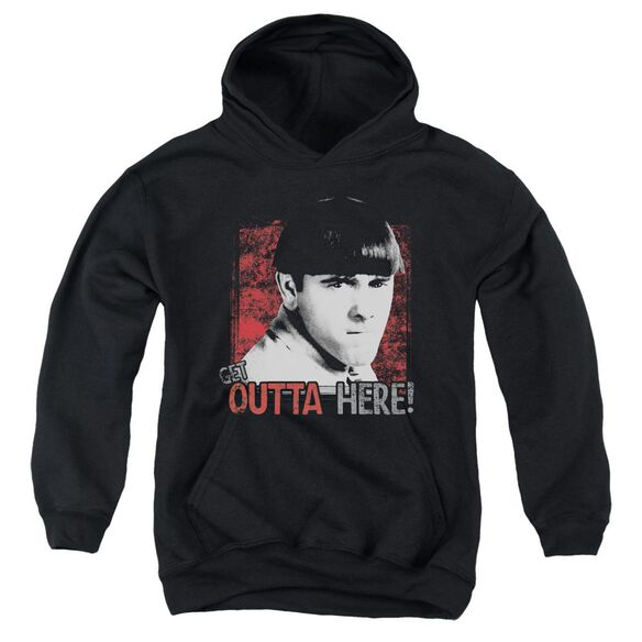 Three Stooges Get Outta Here Youth Pull Over Hoodie