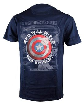 Marvel Falcon and the Winter Soldier Wield the Shield T-Shirt
