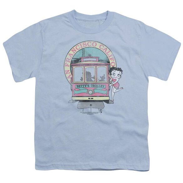 Betty Boop Betty's Trolley Short Sleeve Youth Light T-Shirt