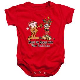 Garfield Share The Season Infant Snapsuit Red