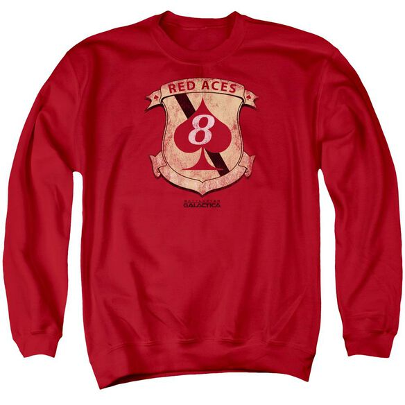 Bsg Aces Badge Adult Crewneck Sweatshirt