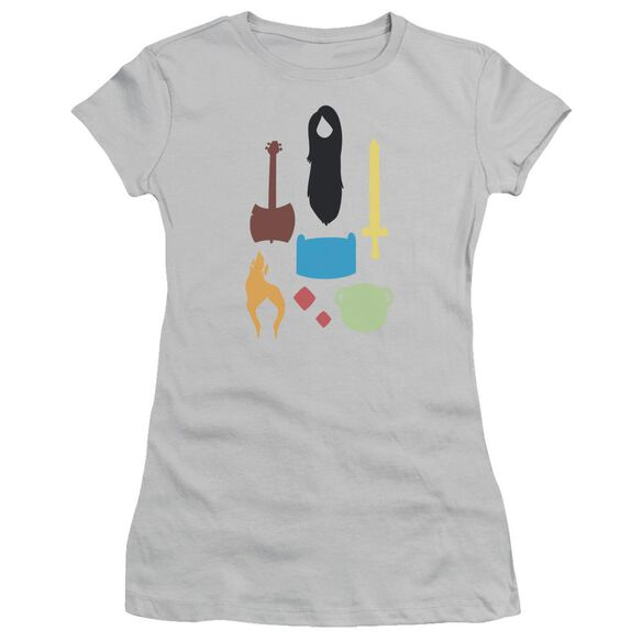 Adventure Time Icons Short Sleeve Junior Sheer T-Shirt