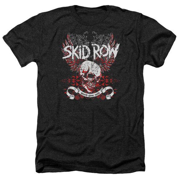Skid Row Winged Skull Adult Heather