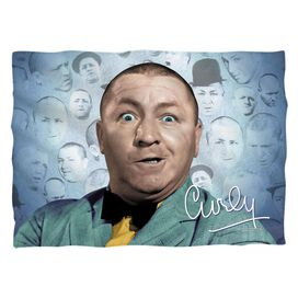 Three Stooges Curly Heads Pillow Case