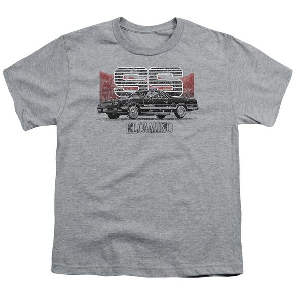 Chevrolet El Camino Ss Mountains Short Sleeve Youth Athletic T-Shirt