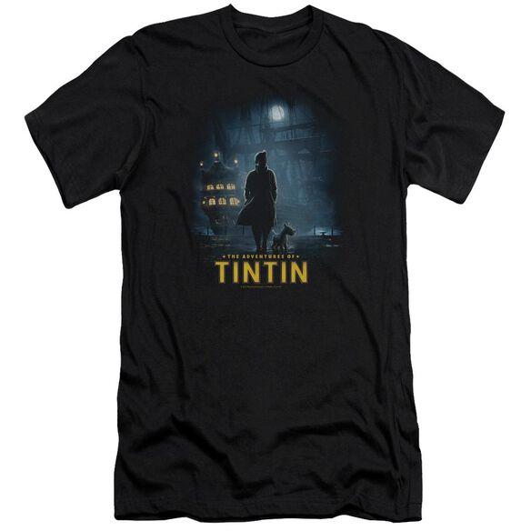 Tintin Title Poster Premuim Canvas Adult Slim Fit