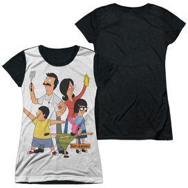 Bobs Burgers Hero Pose Short Sleeve Junior Poly Black Back T-Shirt