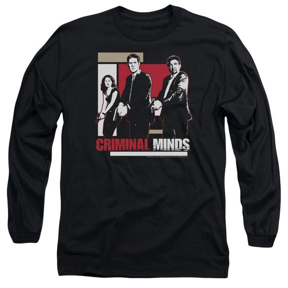 Criminal Minds Guns Drawn Long Sleeve Adult T-Shirt