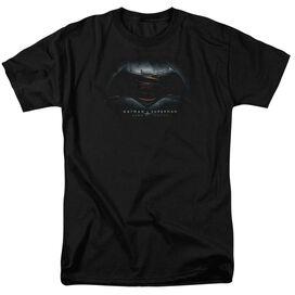 Batman Vs Superman Logo Short Sleeve Adult Black T-Shirt