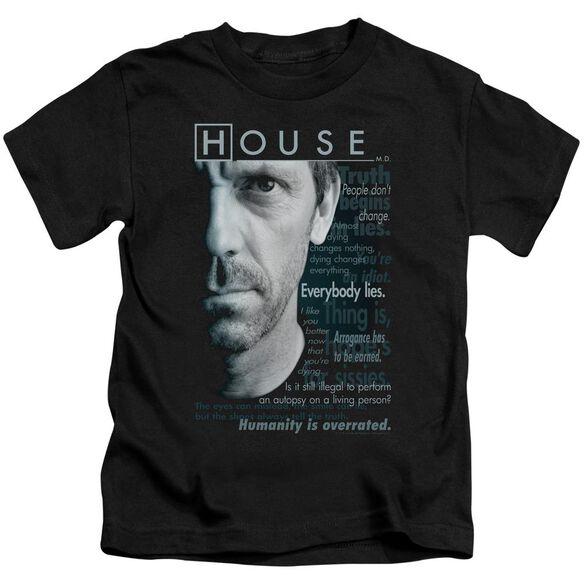 House Houseisms Short Sleeve Juvenile Black T-Shirt