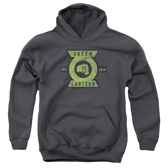 Green Lantern Section Youth Pull Over Hoodie