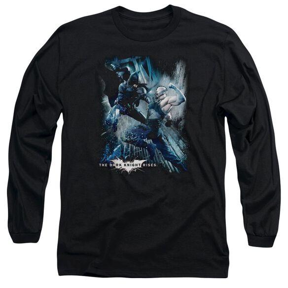 Dark Knight Rises Showdown Long Sleeve Adult T-Shirt