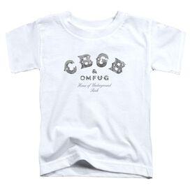 Cbgb Club Logo Short Sleeve Toddler Tee White T-Shirt