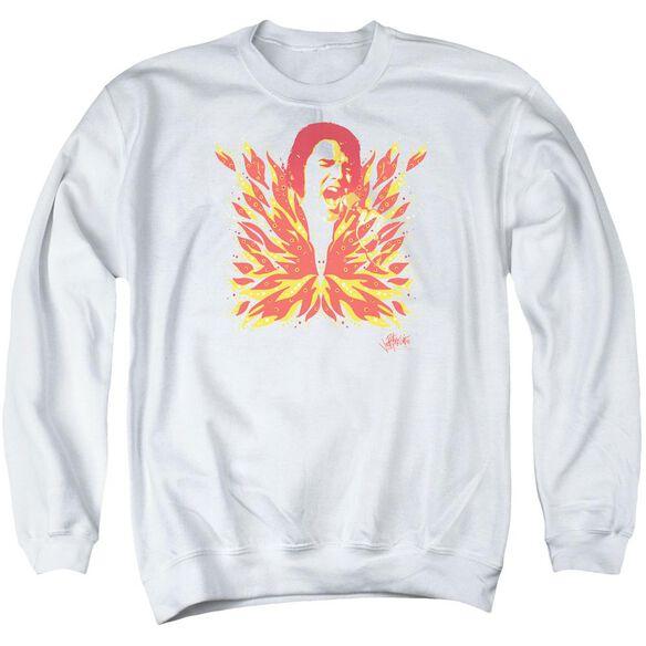 Elvis His Latest Flame Adult Crewneck Sweatshirt