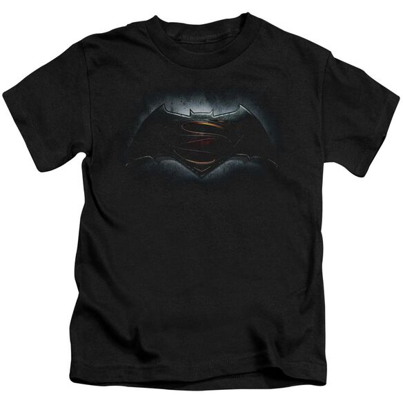 Batman V Superman Logo Short Sleeve Juvenile Black T-Shirt