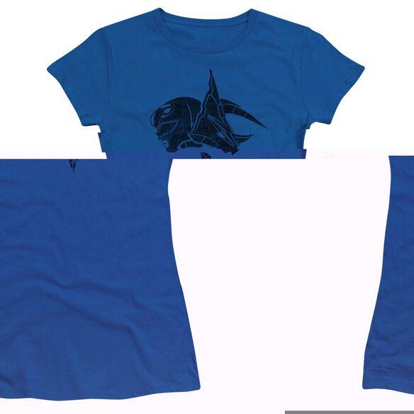 Power Rangers Short Sleeve Junior Sheer Royal T-Shirt