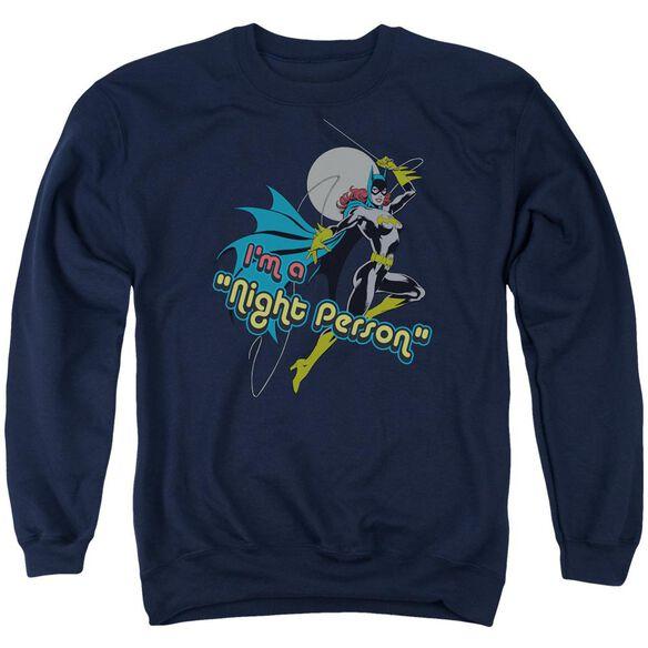 Dc Night Person Adult Crewneck Sweatshirt