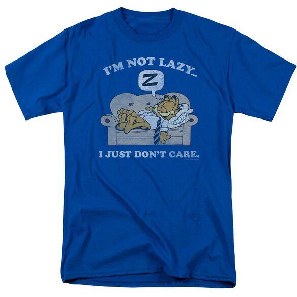 Garfield Not Lazy Short Sleeve Adult Royal Blue T-Shirt
