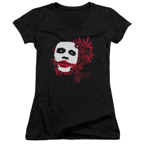 Dark Knight Whats So Funny Junior V Neck T-Shirt
