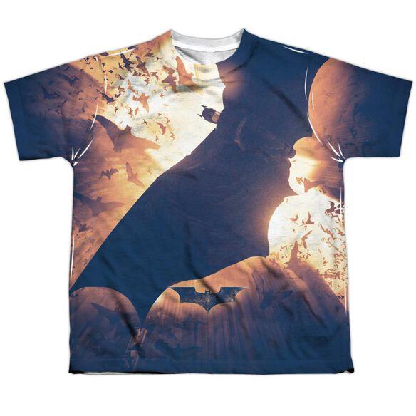 Batman Begins Colony Short Sleeve Youth Poly Crew T-Shirt