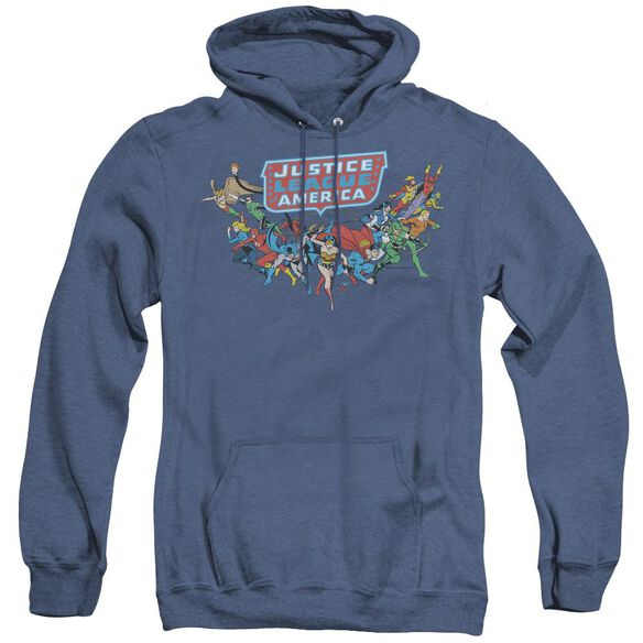 Dc Here They Come - Adult Heather Hoodie - Royal Blue