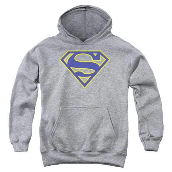 Superman Maize & Blue Shield Youth Pull Over Hoodie Athletic