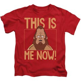 Bobs Burgers This Is Me Short Sleeve Juvenile Red T-Shirt