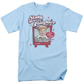 I LOVE LUCY 60 YEARS OF LAUGHTER - S/S ADULT 18/1 - LIGHT BLUE T-Shirt