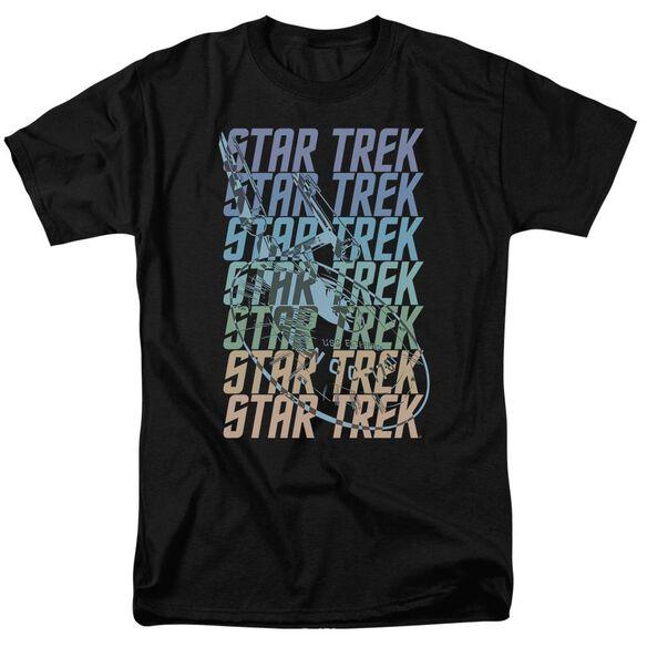 Star Trek Multi Logo Enterprise Short Sleeve Adult T-Shirt
