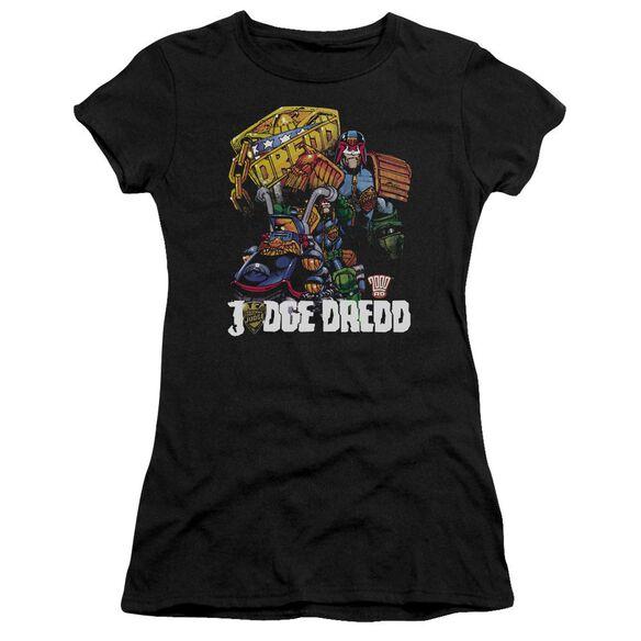 Judge Dredd Bike And Badge Premium Bella Junior Sheer Jersey