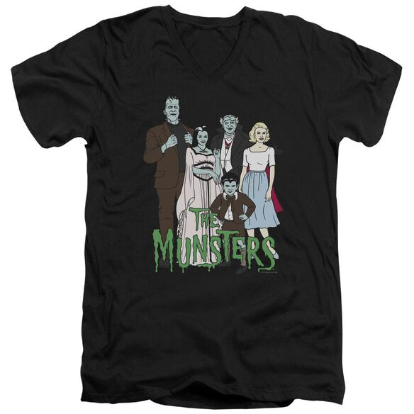 The Munsters The Family Short Sleeve Adult V Neck T-Shirt