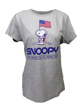Snoopy First Beagle on the Moon Women's T-Shirt