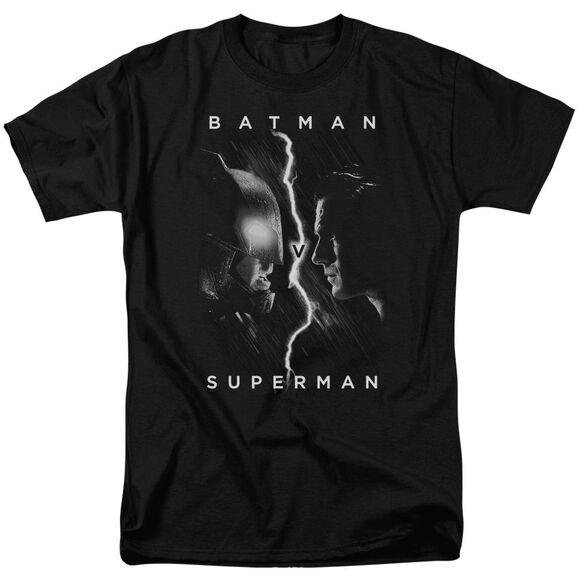 Batman V Superman Face To Face Short Sleeve Adult Black T-Shirt