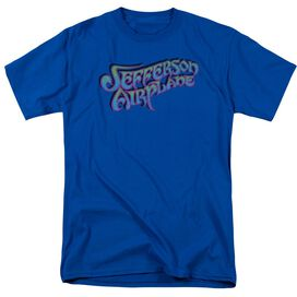 Jefferson Airplane Gradient Logo Short Sleeve Adult Royal T-Shirt