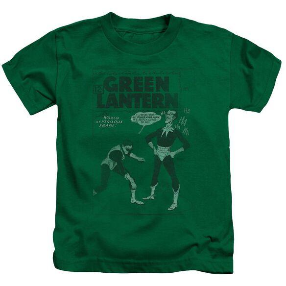 Green Lantern Perilous Traps Short Sleeve Juvenile Kelly Green T-Shirt