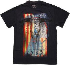 Flag USA Liberty Skull T-Shirt
