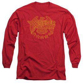 Dc Wonder Eagle Long Sleeve Adult T-Shirt