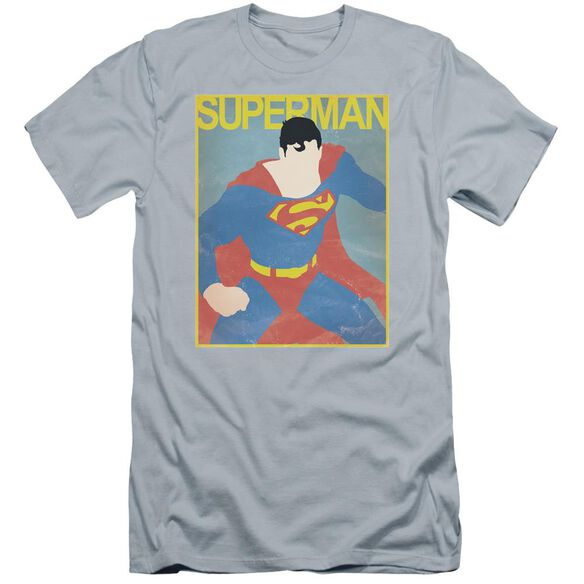 Superman Simple Sm Poster Premuim Canvas Adult Slim Fit Light
