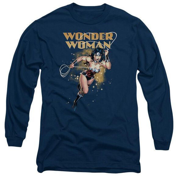 Jla Star Lasso Long Sleeve Adult T-Shirt