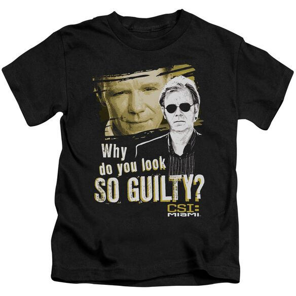Csi Miami So Guilty Short Sleeve Juvenile Black T-Shirt