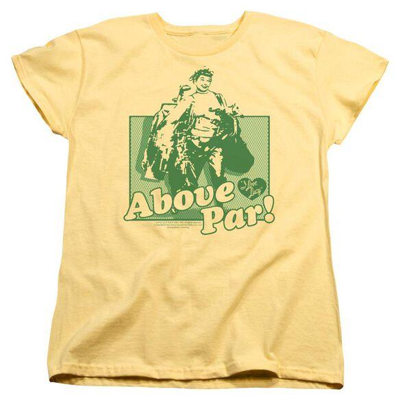 I Love Lucy Above Par Short Sleeve Womens Tee T-Shirt