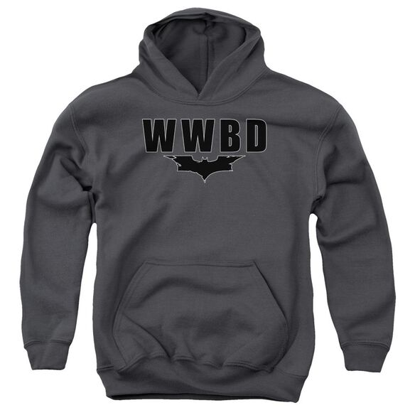 Dark Knight Wwbd Logo Youth Pull Over Hoodie