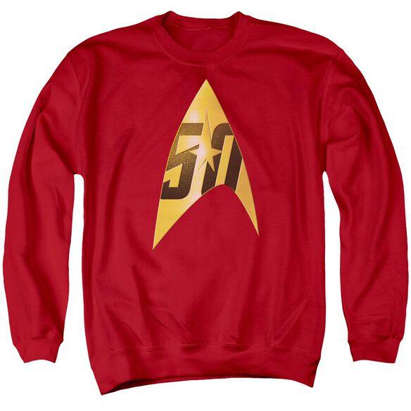 Star Trek 50 Th Anniversary Delta Adult Crewneck Sweatshirt